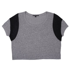 Trends -  Borderline Crop Top, Grey/Black - The Giant Peach