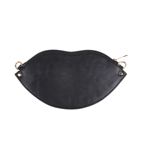 Hot Lips Clutch, Black