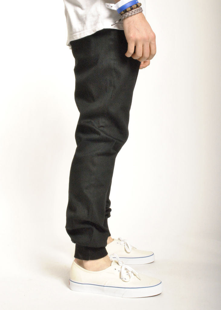 Rustic Dime - Sunset Jogger, Black Stretch Twill - The Giant Peach