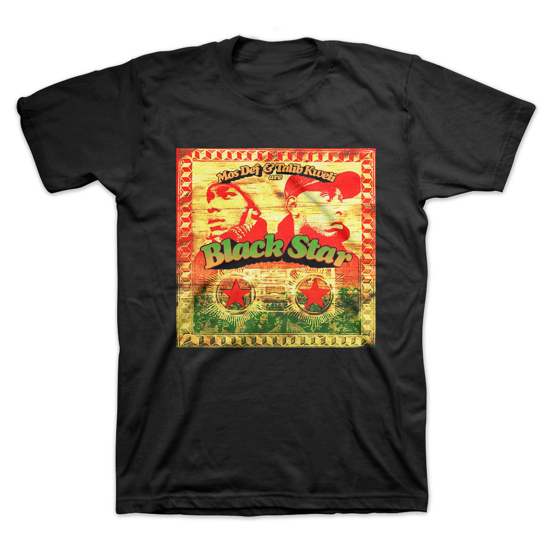 Mos Def & Talib Kweli - Black Star Album Cover Men's Shirt, Black - The Giant Peach