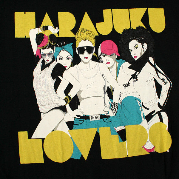 Harajuku Lovers - Group Nagel Oversized Junior's Top, Black - The Giant Peach
