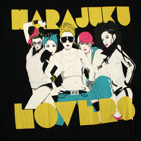 Harajuku Lovers - Group Nagel Oversized Junior's Top, Black