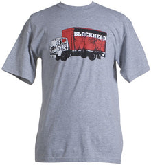 Blockhead - Throwup Truck Shirt, Heather Grey - The Giant Peach