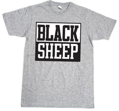 Black Sheep - Block Logo Men's Shirt, Heather Grey - The Giant Peach