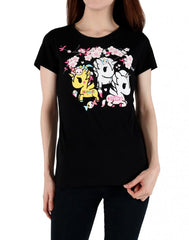 tokidoki - Blooming Women's Tee, Black - The Giant Peach