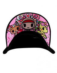 tokidoki - Blossom Ponies Snapback Hat, Black - The Giant Peach