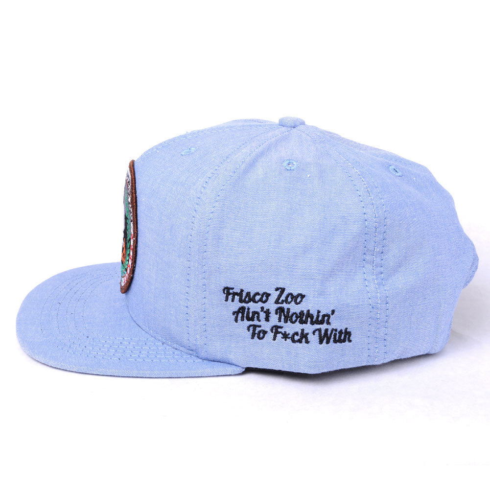 TRUE -Human Zoo 6 Panel Snapback Hat, Indigo Denim - The Giant Peach - 2