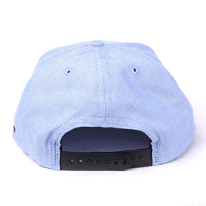 TRUE -Human Zoo 6 Panel Snapback Hat, Indigo Denim - The Giant Peach