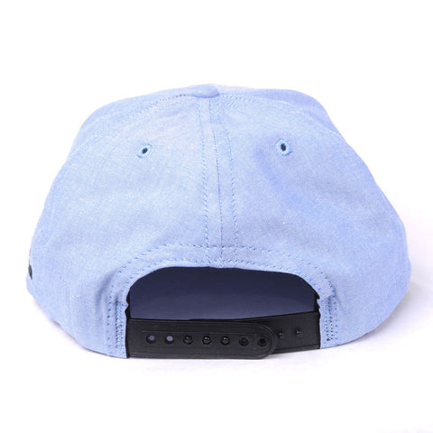 TRUE -Human Zoo 6 Panel Snapback Hat, Indigo Denim