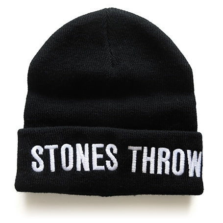 Stones Throw - Bold Beanie, Black - The Giant Peach