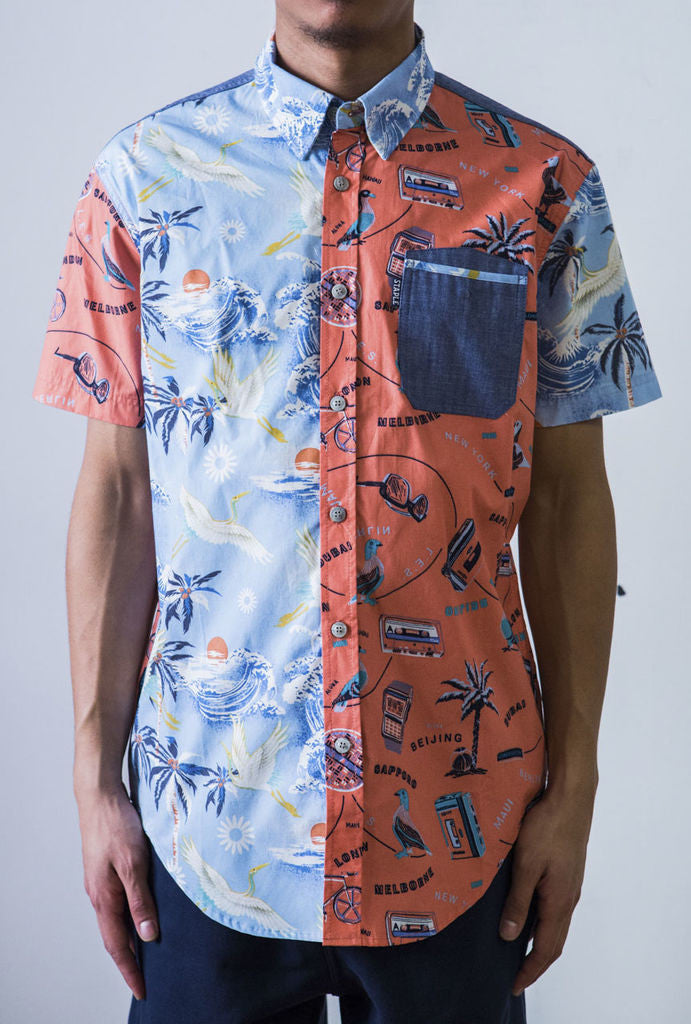 Staple - Bondi Men's Woven Shirt, Indigo - The Giant Peach