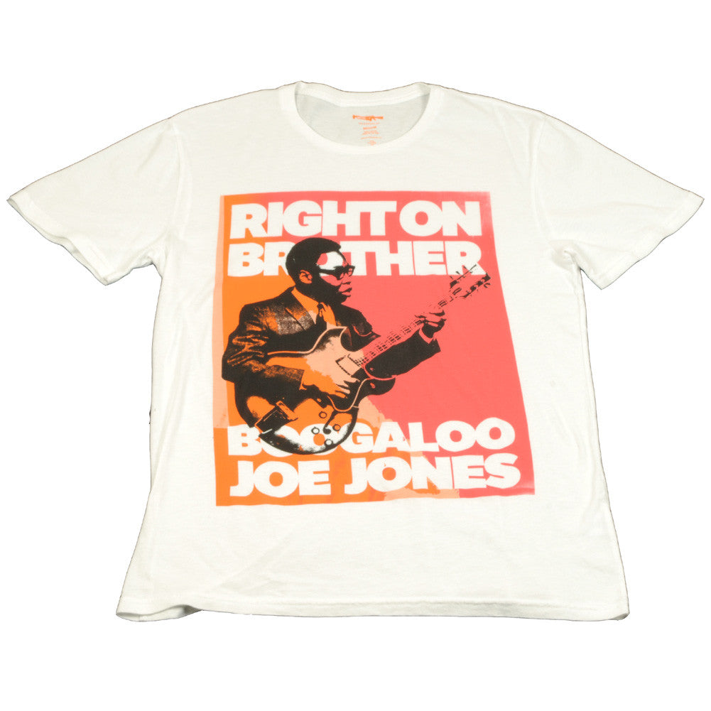 Friend or Foe - Boogaloo Joe Jones Right On Men's Tee, White - The Giant Peach - 1