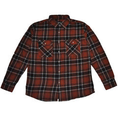 Brixton -Bowery Men's Flannel L/S Shirt, Rust - The Giant Peach