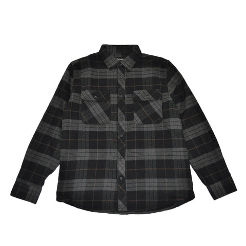 Brixton - Bowery Men's L/S Flannel Shirt, Black/Charcoal