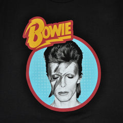David Bowie -  Aladdin Blue Men's Shirt, Black - The Giant Peach