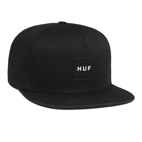 HUF - Box Logo Snapback, Black - The Giant Peach