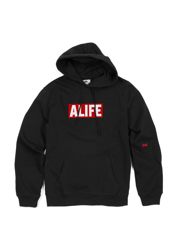 Alife - Box Life Men's Hoodie, Black - The Giant Peach