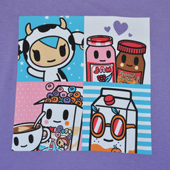 tokidoki - Breakfast Buds Women's Tee, Lavender - The Giant Peach