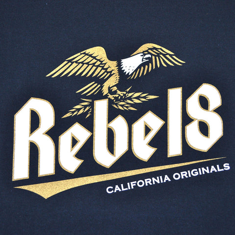 REBEL8 - Brewed And Screwed Men's Shirt, Navy