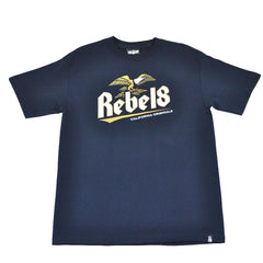 REBEL8 - Brewed And Screwed Men's Shirt, Navy - The Giant Peach