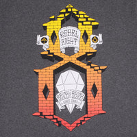 REBEL8 - Brick By Brick Men's Tee, Charcoal - The Giant Peach