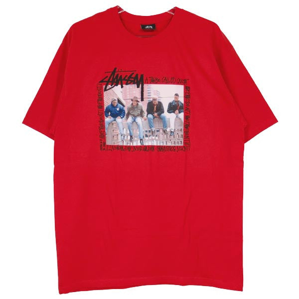 Stussy x A Tribe Called Quest - Brick Wall Men's Tee, Red - The Giant Peach