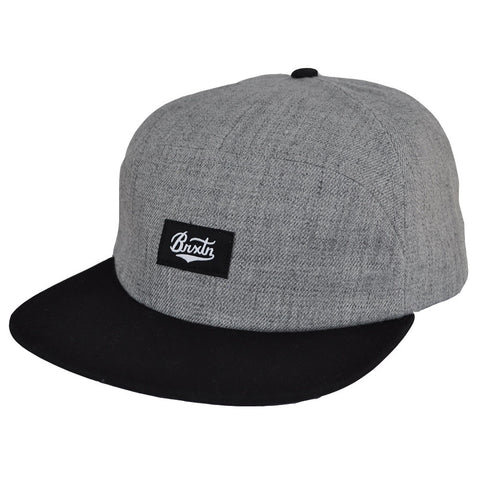 Brixton - Bert 7 Panel Men's Cap, Heather Grey/Black