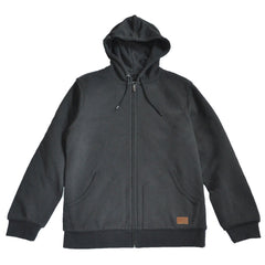 Brixton - Billings Men's Zip Hood Fleece, Washed Black - The Giant Peach