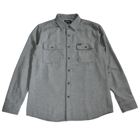Brixton - Bowery Men's Flannel L/S Shirt, Grey