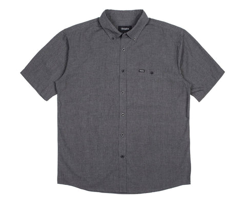 Brixton - Central Men's S/S Woven Shirt, Heather Black