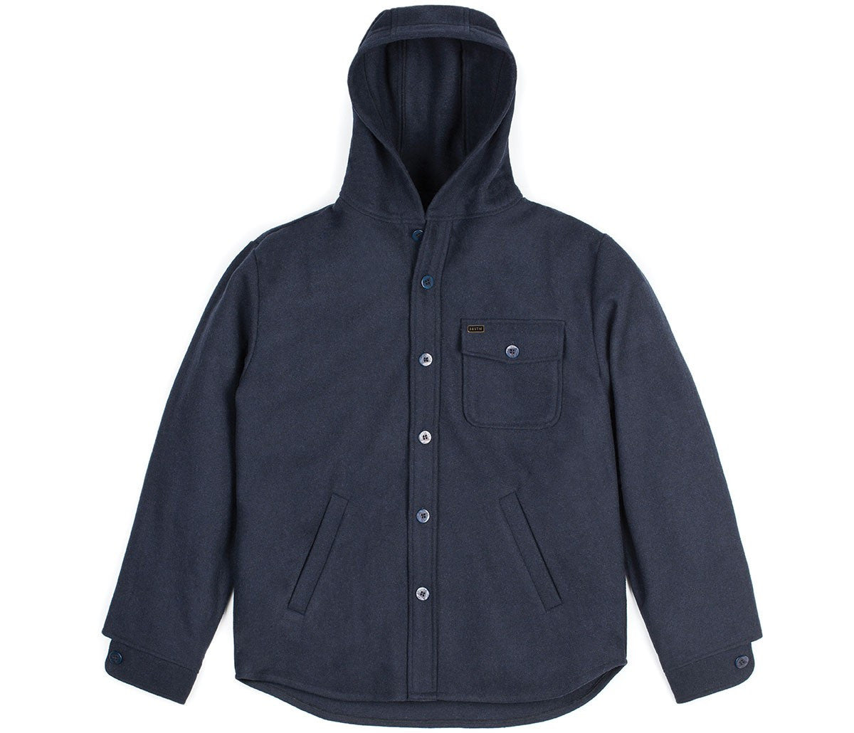 Brixton - Compass Hooded Men's Jacket, Navy - The Giant Peach