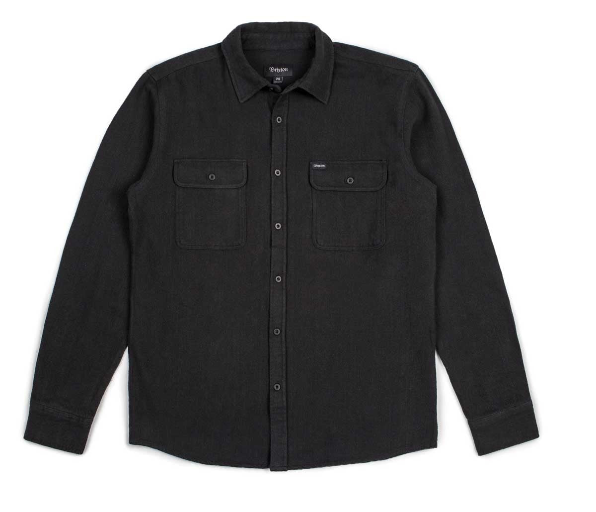 Brixton - Donez Men's Flannel L/S Shirt, Black/Black - The Giant Peach