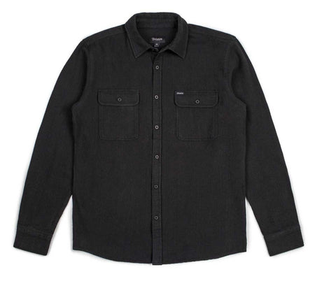 Brixton - Donez Men's Flannel L/S Shirt, Black/Black