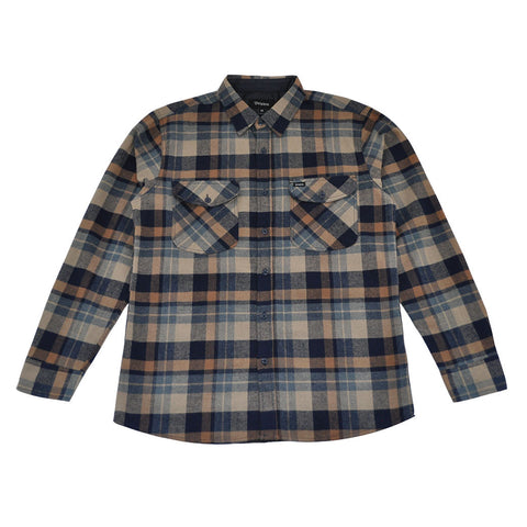 Brixton - Flynn Men's L/S Flannel Shirt, Navy/Khaki