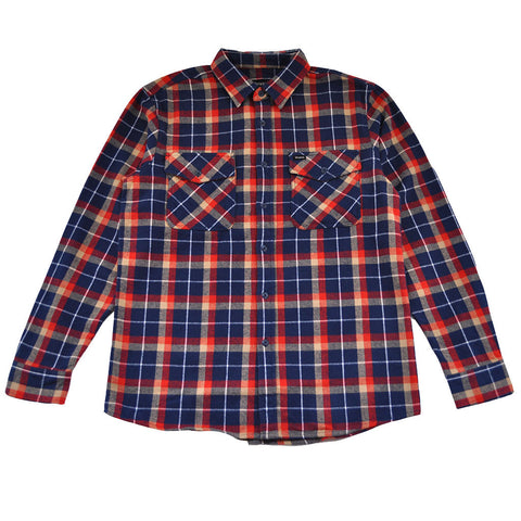 Brixton - Grady Men's L/S Flannel Shirt, Deep Blue