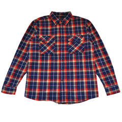 Brixton - Grady Men's L/S Flannel Shirt, Deep Blue - The Giant Peach