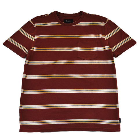 Brixton - Hilt Men's S/S Pocket Knit Tee, Burgundy