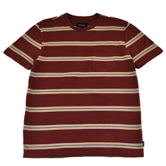 Brixton - Hilt Men's S/S Pocket Knit Tee, Burgundy - The Giant Peach