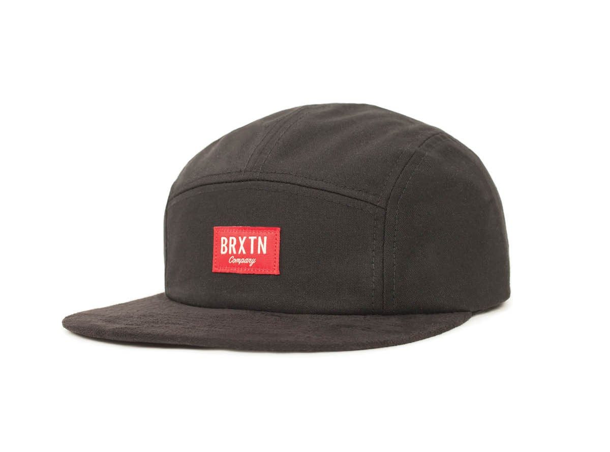 Brixton - Hoover 5 Panel Men's Cap, Black - The Giant Peach