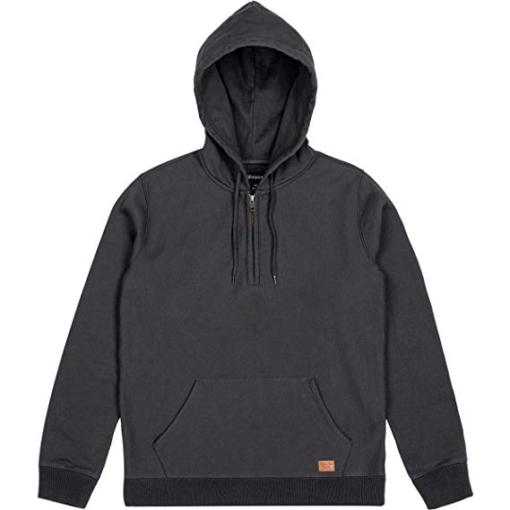 Brixton - Longman 1/2 Zip Men's Hoodie, Washed Black