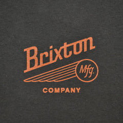 Brixton - Maverick Men's S/S Standard Tee, Black/Rust - The Giant Peach