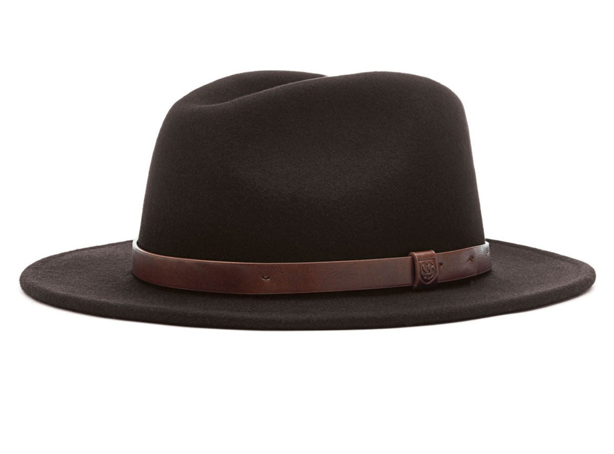 Brixton - Messer Fedora, Black - The Giant Peach