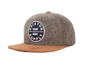 Brixton - Oath III Men's Snapback Hat, Grey/Copper - The Giant Peach