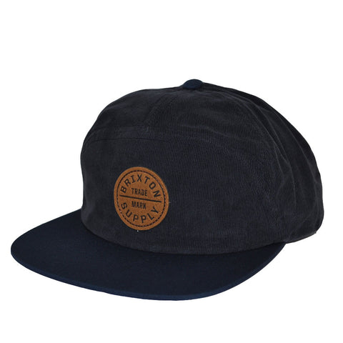 Brixton - Oath 7 Panel Men's Cap, Dark Navy