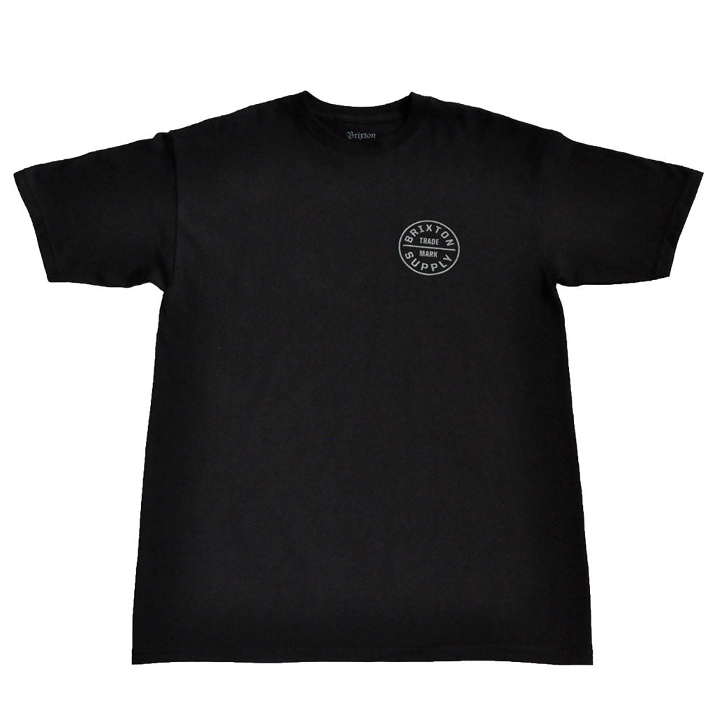 Brixton - Oath Men's S/S Standard Tee, Black/Grey - The Giant Peach