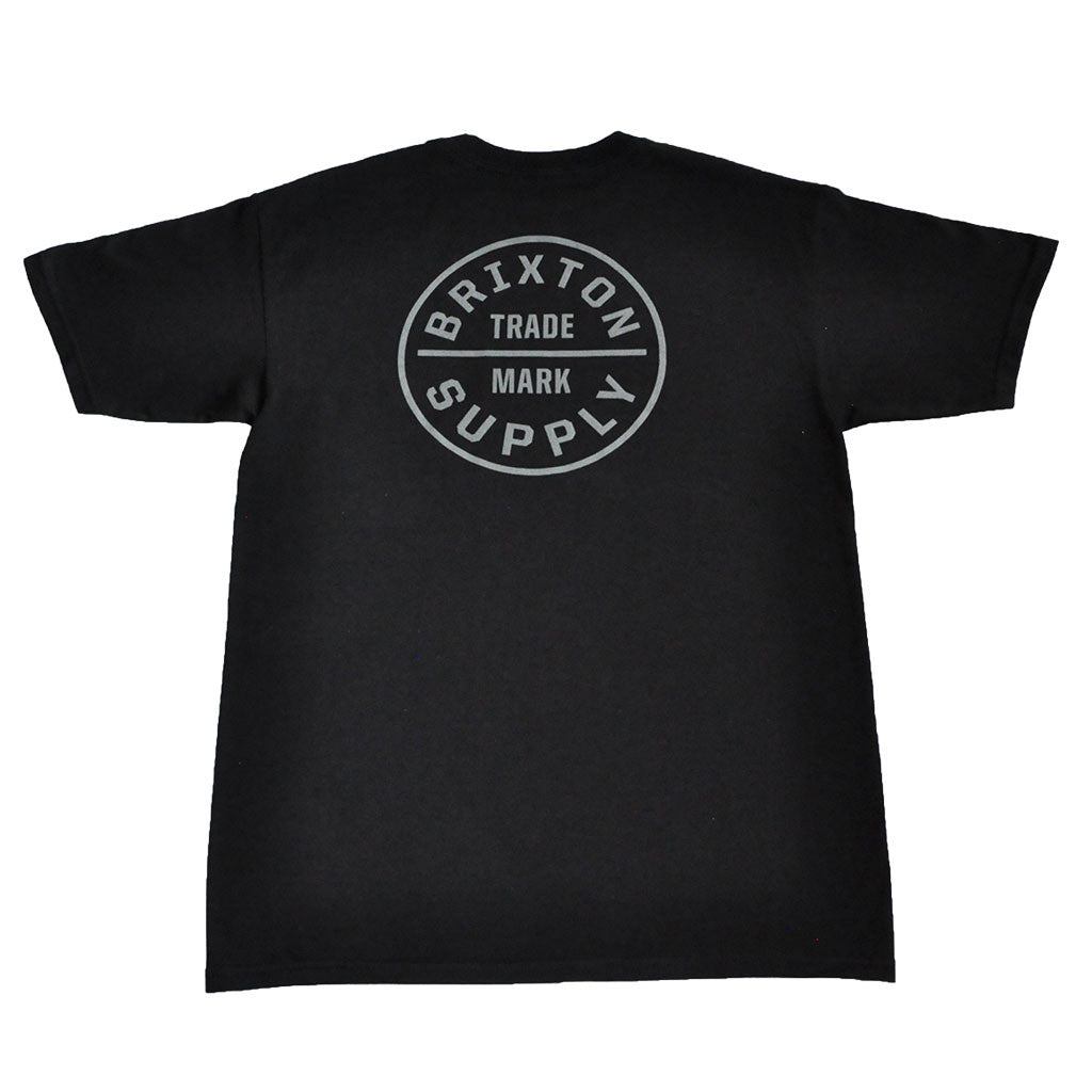 Brixton - Oath Men's S/S Standard Tee, Black/Grey - The Giant Peach - 1