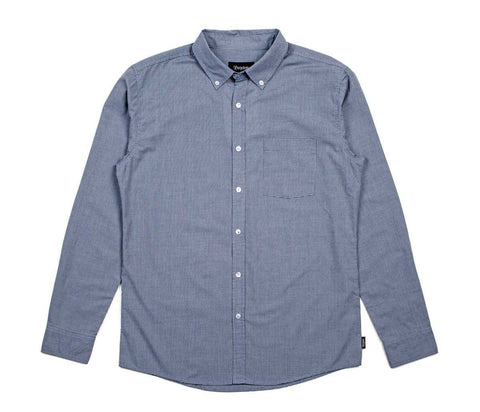 Brixton - Polk Men's L/S Shirt, Navy