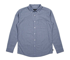 Brixton - Polk Men's L/S Shirt, Navy - The Giant Peach - 1