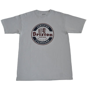 Brixton - Soto Men's S/S Standard Tee, Grey - The Giant Peach