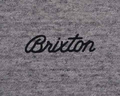 Brixton - Trevor Crew Men's Fleece, Heather Grey/Black